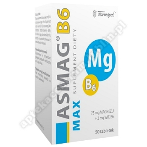 Asmag B6 Max tabl. 50 tabl.