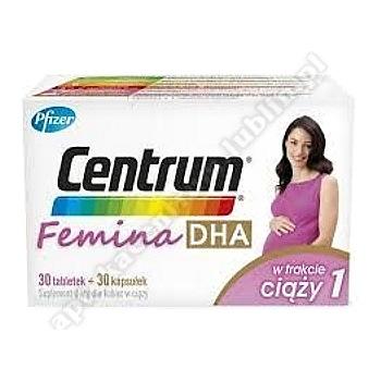 Centrum Femina 1 DHA w trakcie ciąży ( 30 +30 tab )