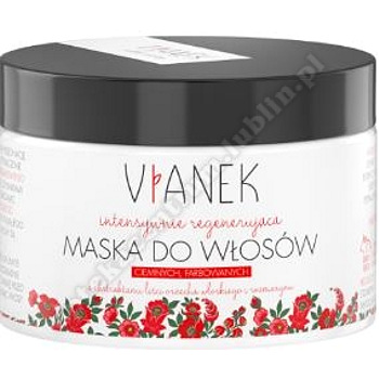 VIANEK Intensywnie regenerująca maska do włosów ciemnych, farbowanych