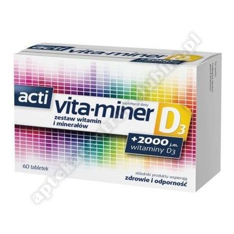 Acti Vita-miner D3 tabl. 60 tabl.
