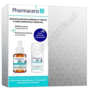 PHARMACERIS A Zestaw Koncentrat z witaminami A i E, 30 ml + Krem pod oczy Opti-Sensilium, 15 ml