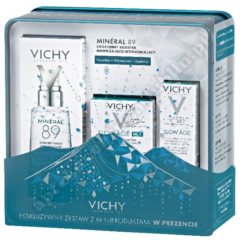 VICHY XMAS 2019 BOOSTER MINERAL 89 50 ml +Vichy krem slow age 3 ml+Vichy maska na noc 15 ml