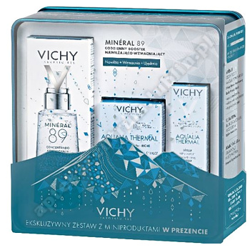 VICHY XMAS 2019 BOOSTER MINERAL 89 + Vichy Aqual.thermal 15 ml+ Vichy aqualia serum 3 ml