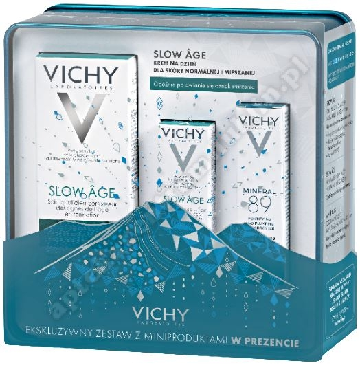 VICHY XMAS19 SLOW AGE Krem  sk.norm. i miesz.50ml+Vichy 3ml kr.do sk.nor.+Vichy Mineral booster 10ml