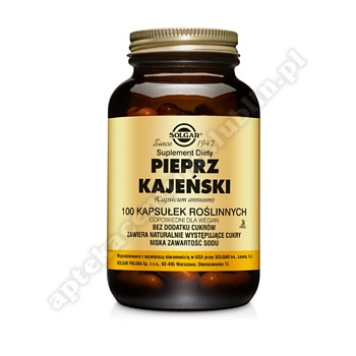 SOLGAR Pieprz Kajeński kaps. 100 kaps.
