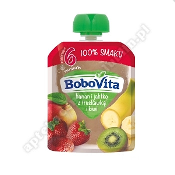 BoboVita Przyjaciele Jabłko,truskawka,banan 80 g