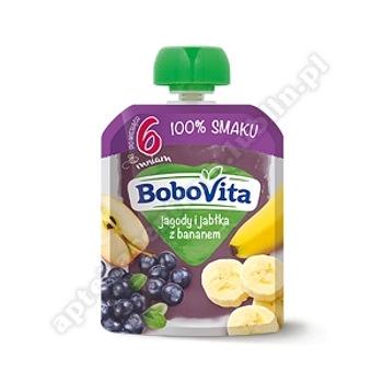 BoboVita Jagody i jabłka z bananem 80g