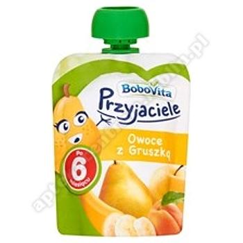BoboVita Przyjaciele Owoce z gruszką 80g