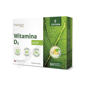Biovitum Liquid Wit. D3 2000 60 kaps.