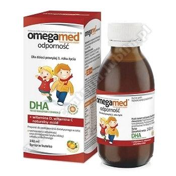 Omegamed Odporność 1+ Syrop w butelce 140m