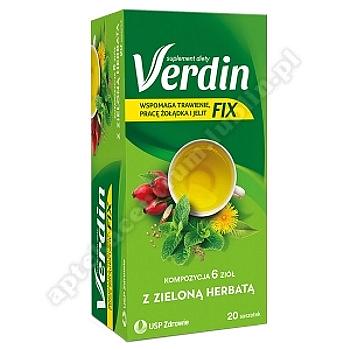 Verdin Fix z zieloną herbatą zioła do zaparzania 20 sasz