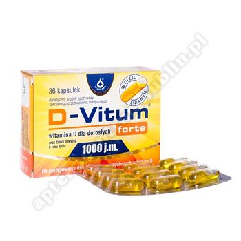 D-Vitum Forte Witamina D dla dorosłych 36  kaps.