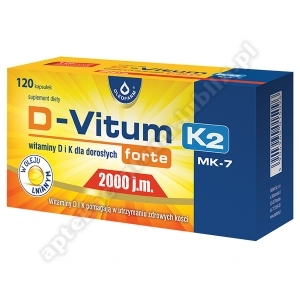 D-Vitum Forte 2000 j.m. K2 kaps. 120kaps.