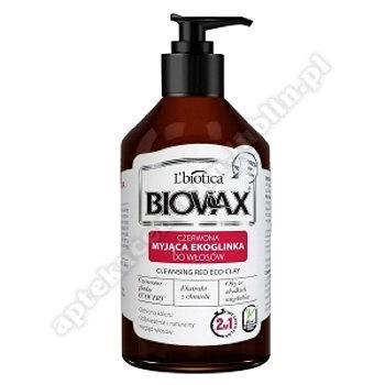 Biovax Myjąca Ekoglinka do włosów czerwona myjąca ekoglinka do włosów,  200ml