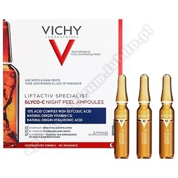 VICHY LIFTACTIV GLYCO-C ampułki, 10x2ml Skoncentrowana kuracja peelingująca na noc