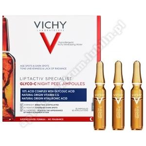 VICHY LIFTACTIV GLYCO-C 30amp.x2ml Skoncentrowana kuracja peelingująca na przebarwienia na noc