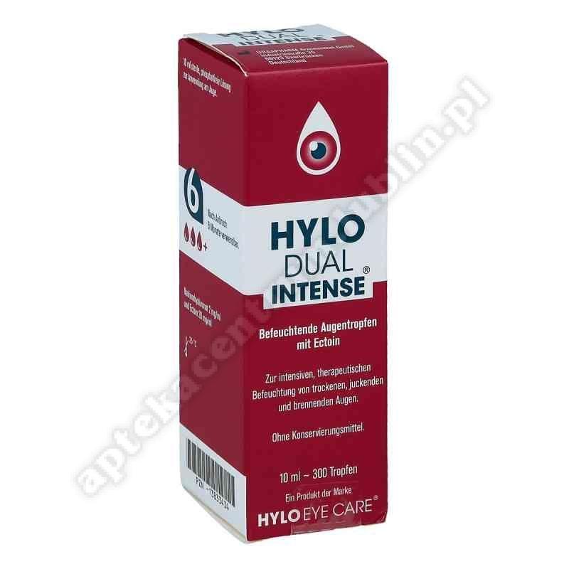 HYLO DUAL INTENSE Nawilżające Krople do oczne 10 ml