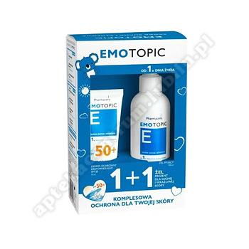EMOTOPIC Zestaw Krem mineralny SPF50+ ,75 ml + Żel myjący 190 ml