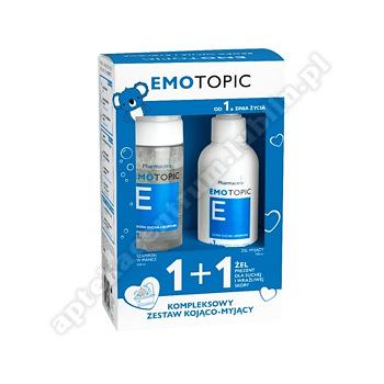 Emotopic Zestaw Pharmaceris  Szampon nawilżający w piance 200 ml + Żel myjący 190 ml