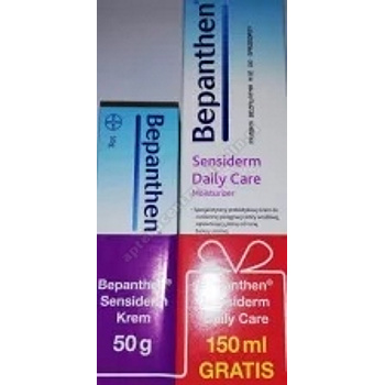 Bepanthen Sensiderm Krem 50g +Bepanthen  Sensiderm Daily Care 150ml gratis