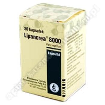 Lipancrea 8000 kaps. 8000j.Ph.Eur. 20kaps.