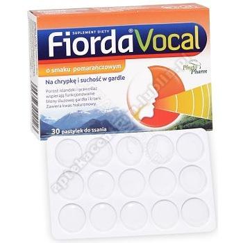 Fiorda Vocal o smaku pomarańczowym pastyl.
