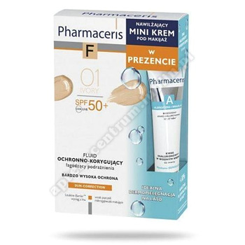 PHARMACERIS F Zes Fluid SPF50+ 01+   Mini krem nawilżający 15 ml