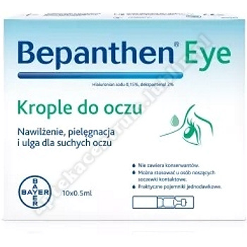 Bepanthen Eye krop.do oczu 10 amp.