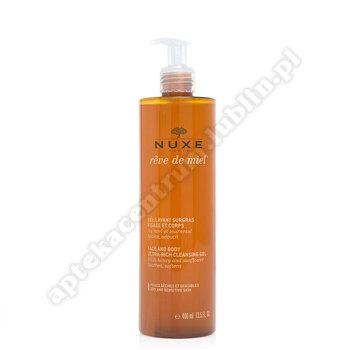 NUXE REVE DE MIEL ULTRABOGATY Żel d/mycia twarzy i ciała 400 ml