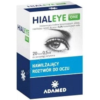 HIALEYE ONE 20 fiol.a 0,5ml-d.w.2021.05.31
