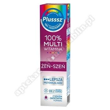 Plusssz 100% Multiwitamina + Żeń-Szeń tabletki musujące po 20 tab.