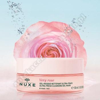 NUXE VERY ROSE Ultraświeża Żelowa Maska oczyszczajaca 150ml+woda miceralna 7  ml gratis