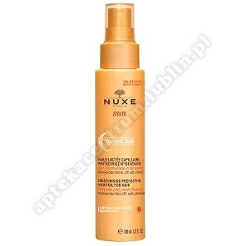 NUXE SUN mleczny olejek nawilżająco-ochronny do włosów, 100ml+ balsam po ekspozycji na słońce  100 m