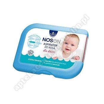 NOSON Aspirator do nosa dla dzieci +4  wymienne końcówki