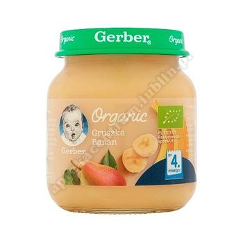 GERBER ORGANIC Gruszka banan 125 g