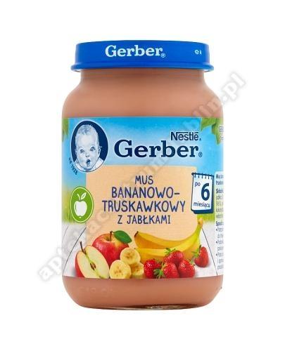 GERBER Deser mus bananowo-truskawkowy z jabłkami po 6 miesiącu - 190 g