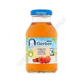 GerberSok jabłko wiśnia 100% po 4 miesiącu - 200 ml