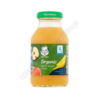 GERBER ORGANIC Nektar jabłko, mango po 4. miesiącu - 200 ml