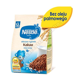 NESTLE Kaszka mleczno-ryżowa kakao, po 12 miesiącu - 230 g