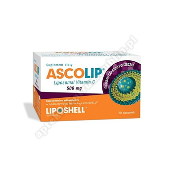 Ascolip Liposomal Vitamin C 500 mg czarna porzeczka 30 sasz.