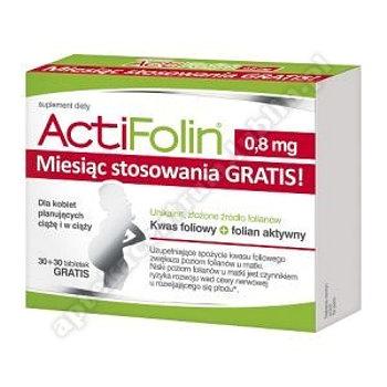 Actifolin 0,8mg tabl. 30tabl.(+30tabl.GRATIS)