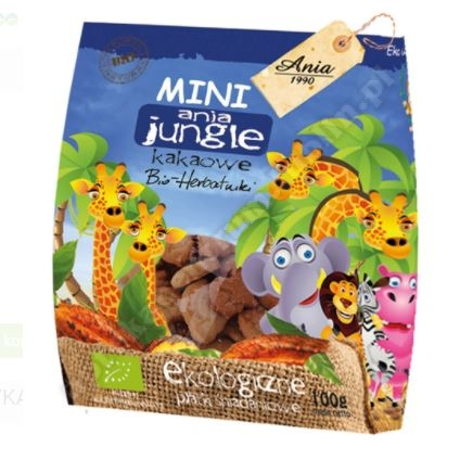 CIASTKA KAKAOWE MINI JUNGLE BIO 100 g - BI
