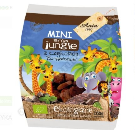 CIASTKA Z CZEKOLADĄ MINI JUNGLE BIO 100 g