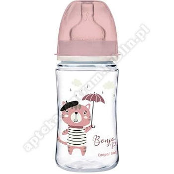 Butelka 240ml Canpol babies szeroka antykolkowa PP Easy Start BONJOUR 35/232 róż