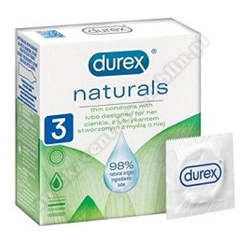 DUREX prezerwatywy  Naturals 3 szt.