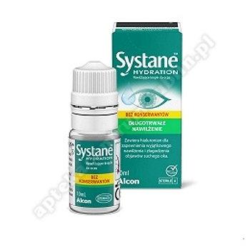 Systane Hydration bez konserwantów krop.do oczu 10 ml +Systane complete 3ml GRATIS