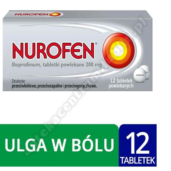 Nurofen ibuprofen 200 mg leki przeciwbólowe tabletki powlekane 12 szt