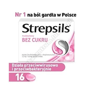 Strepsils truskawkowy b/cukru pastyl.dossa