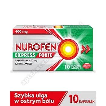 Nurofen Express Forte ibuprofen 400 mg 10 kapsułek miękkich leki przeciwbólowe