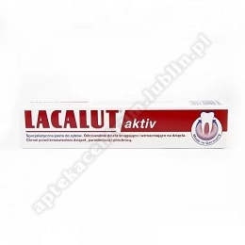 LACALUT Aktiv pasta 75 ml + nić dentystyczna